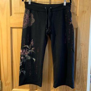 Vintage Lucky Brand Crop Sweatpants. Asian print